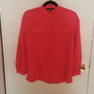Coral Button Up Dress Shirt